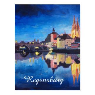 Regensburg, Bavaria RK Dawn Postcard