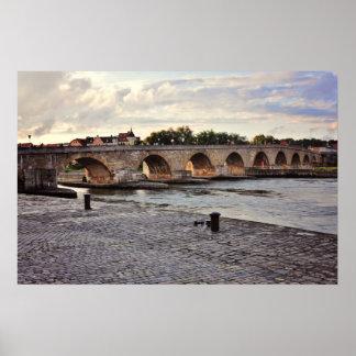 Regensburg bridge posters
