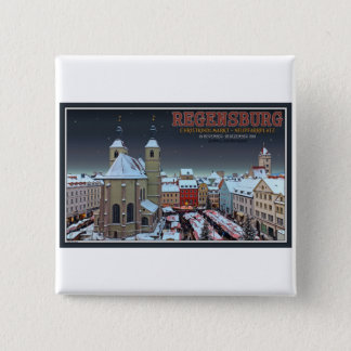 Regensburg Christkindlmarkt on the Neupfarrplatz Button