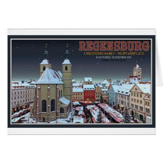 Regensburg Christkindlmarkt on the Neupfarrplatz Card