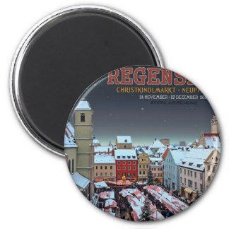 Regensburg Christkindlmarkt on the Neupfarrplatz Refrigerator Magnet