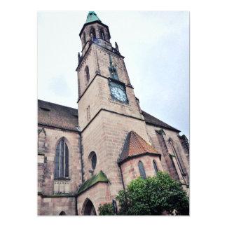 Regensburg church 6.5x8.75 paper invitation card