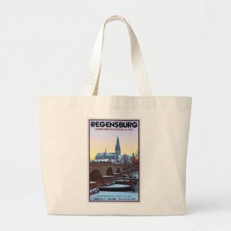 Regensburg - Dom und Steinerne Brücke Large Tote Bag