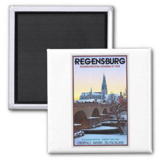 Regensburg - Dom und Steinerne Brücke Refrigerator Magnets