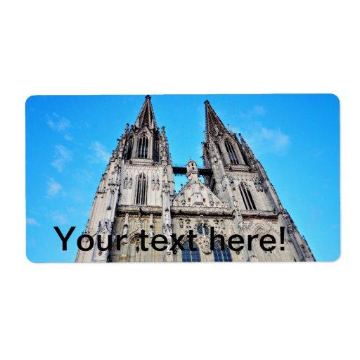 Regensburg dome shipping label