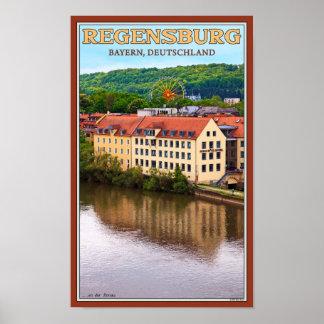 Regensburg Dult - un der Donau Póster