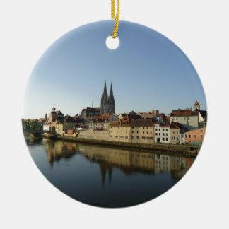 Regensburg, Germany Ceramic Ornament