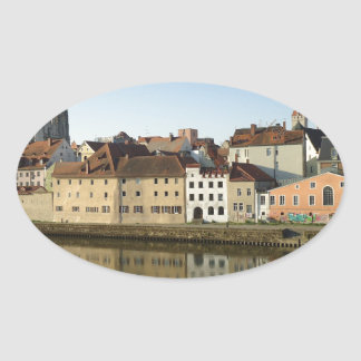 Regensburg, Germany Oval Sticker