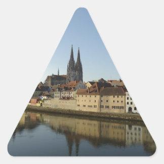 Regensburg, Germany Triangle Sticker