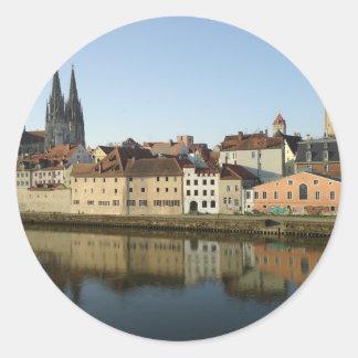 Regensburg, Germany Round Stickers
