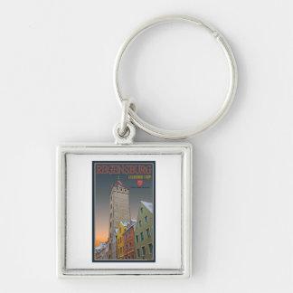 Regensburg - Goldener Turm Winter Keychain