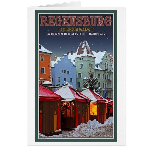 Regensburg Lucrezia Market Greeting Card