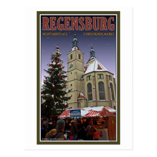 Regensburg Neupfarrplatz Christmas Market Postcard