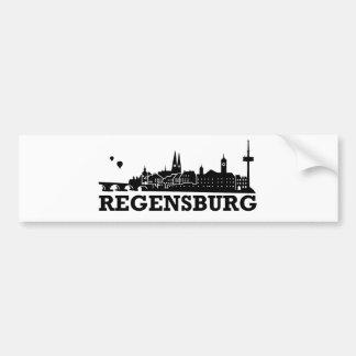 Regensburg Skyline Car Bumper Sticker