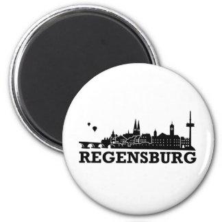 Regensburg Skyline Refrigerator Magnet
