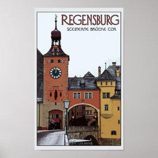 Regensburg - Steinerne Brücke Poster