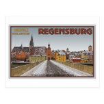 Regensburg - View from Steinerne Brücke Post Card