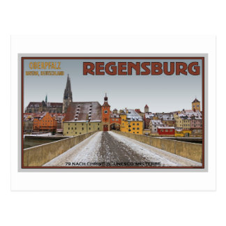 Regensburg - View from Steinerne Brücke Postcard