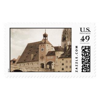 Regensburg vintage stamp