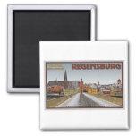 Regensburg - visión desde Steinerne Brücke Imán Para Frigorifico