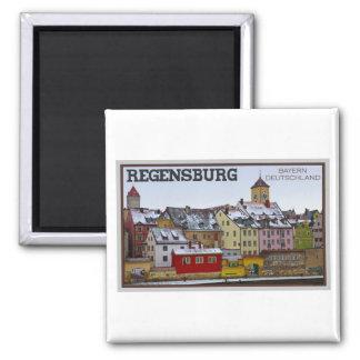 Regensburg - Winter Along the Donau Refrigerator Magnet