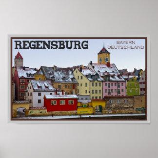 Regensburg - Winter Along the Donau Print
