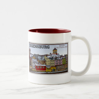 Regensburg - Winter Along the Donau Two-Tone Coffee Mug