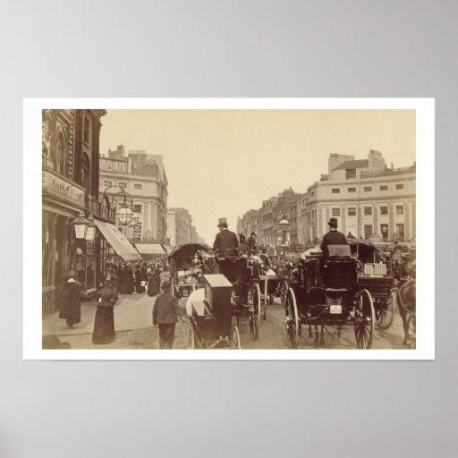 Regent Circus, London, c.1880 (sepia photo) Poster