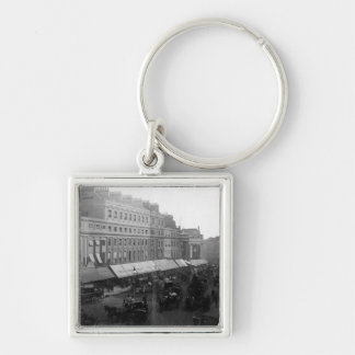 Regent Circus, London, c.1890 Silver-Colored Square Keychain