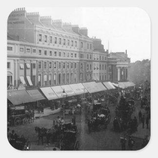 Regent Circus, London, c.1890 Square Sticker