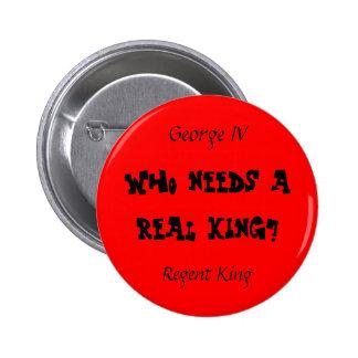 Regent King Pinback Buttons