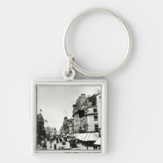 Regent Street, 1910s Silver-Colored Square Keychain