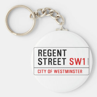 Regent Street Basic Round Button Keychain
