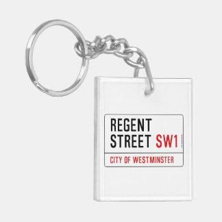 Regent Street Double-Sided Square Acrylic Keychain