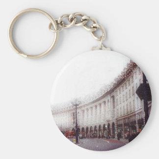 Regent Street, London. Basic Round Button Keychain