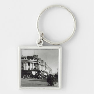 Regent Street, London, c.1900 Silver-Colored Square Keychain