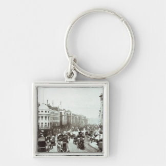 Regent Street, London c.1900 Silver-Colored Square Keychain