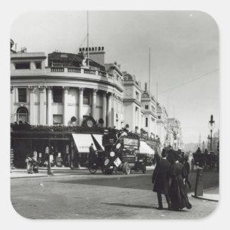 Regent Street, London, c.1900 Square Sticker