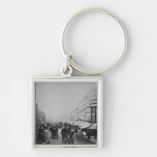Regent Street, London Silver-Colored Square Keychain