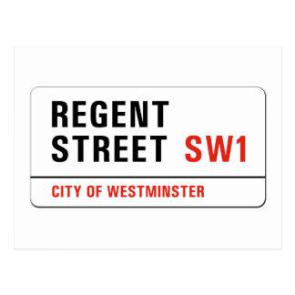 Regent Street, London Street Sign Postcard