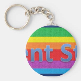 Regent Street Style1 Basic Round Button Keychain