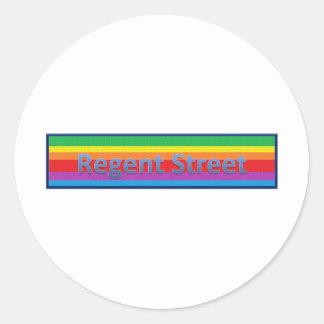 Regent Street Style1 Classic Round Sticker