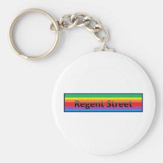 Regent Street Style 2 Basic Round Button Keychain