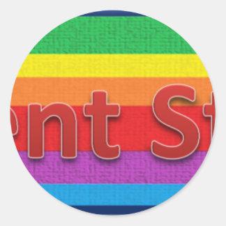 Regent Street Style 3 Classic Round Sticker