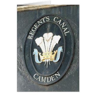 Regent's Canal - Camden Lock - Greeting Card