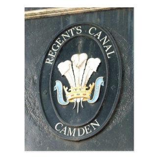 Regent's Canal - Camden Lock - London - Postcard