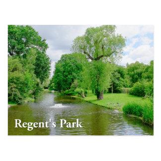 Regent's Park, London UK Postcard