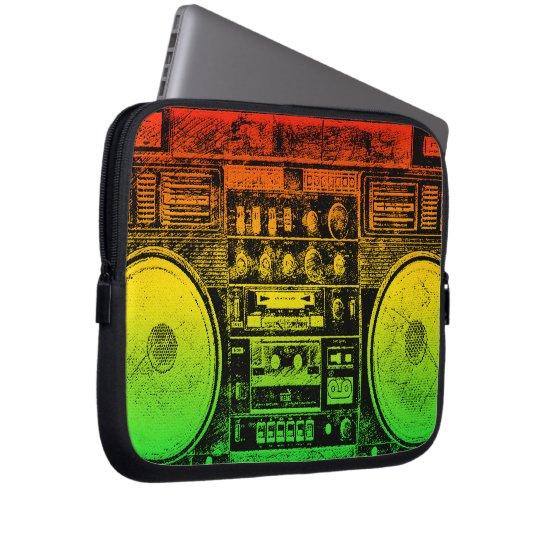 reggae boombox computer sleeve