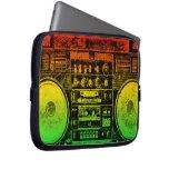 reggae boombox laptop sleeves