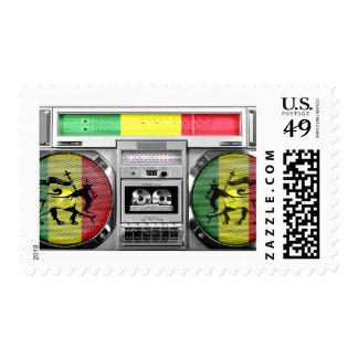 reggae boombox stamps